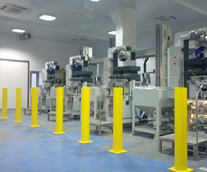 Powder Coated Posts and Machinery